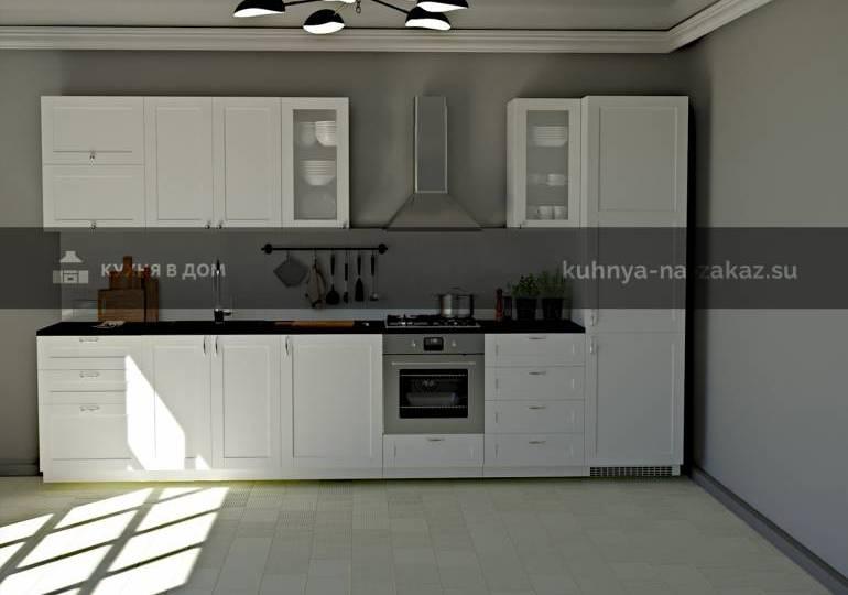 """Фото красивой белой кухни """"Жемчужина"""""""