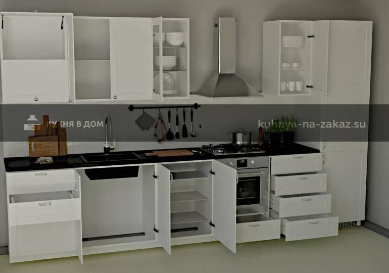 Маленькая прямая кухня для квартиры