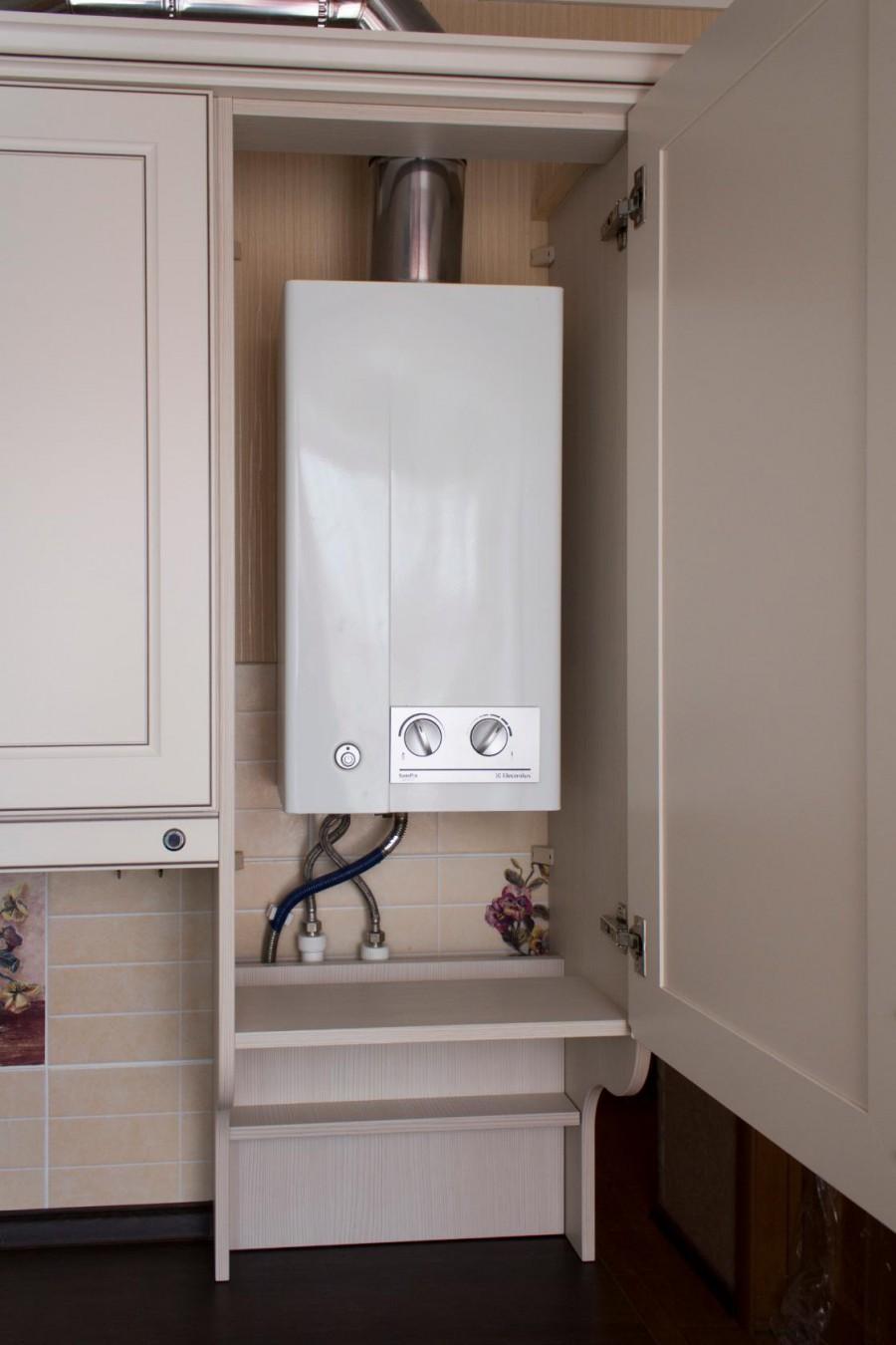 что как спрятать газовый котел на кухне фото размещение колоколов